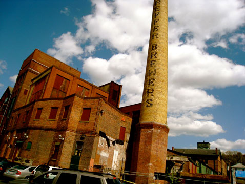 Jamaica Plain's Brewery Small Business Complex has been mentioned as a potential model for Cambridge' Foundry building. (Photo: Liz Kelleher)