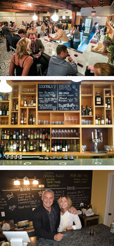 Wine bars in Cambridge and Somerville include Belly in Kendall Square, Spoke in Somerville's Davis Square and the Paint Corner Art Bar in Strawberry Hill. (Photos: Belly; Spoke; Paint Corner Art Bar)