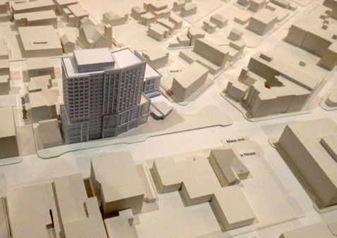 A 230-unit Central Square project called Mass+Main has become part of a citywide debate about demand and pricing for Cambridge housing.